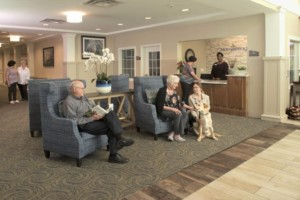 Hamilton NJ Independent Living Lobby Area